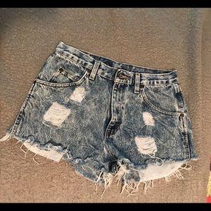 Wrangler vintage jean shorts